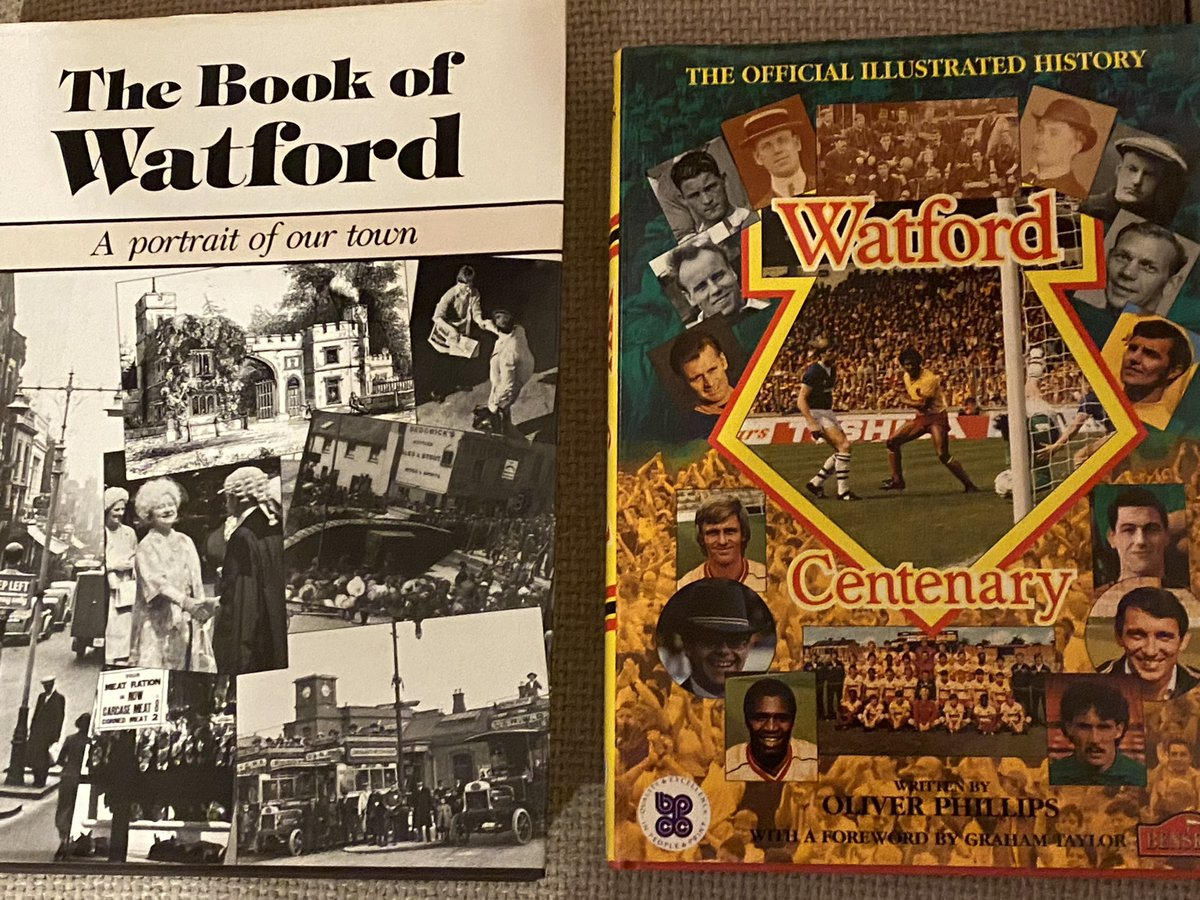 Seeing the benefit of talking about old memories with Dad, who has dementia, whilst looking through these books. He really comes alive when we talk about @WatfordFC in the 1970s #WorldBookDay