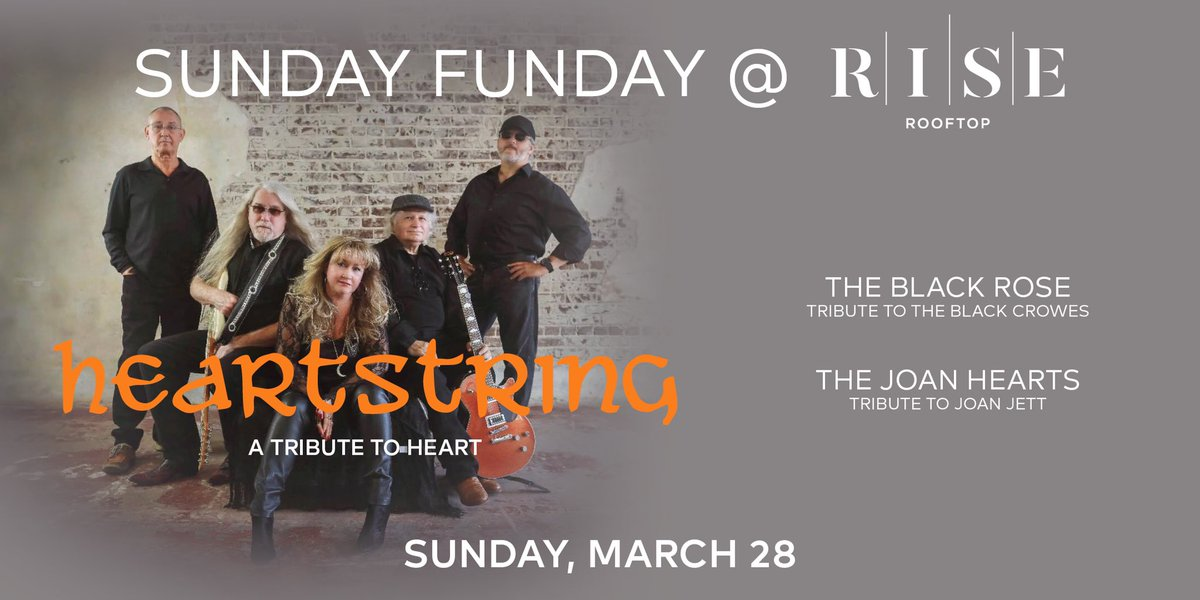 More #SundayFunday fun with Heartstring, The Black Rose, The Joan Hearts coming to Rise Sunday March 28. Get your tickets now at  #Houston