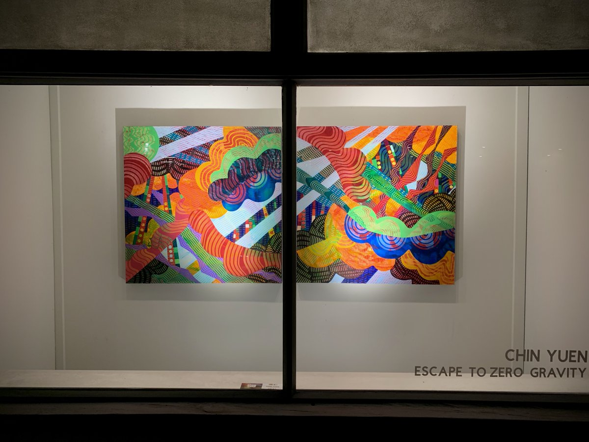Ends tomorrow! Check out my paintings at Rockslide Gallery 618 Herald St.  @YYJArtsAlliance #yyjnow @ArtsVictoria #colourful #abstractpainting #artexhibition #yyjart #yyjartist #beautiful #colours @VictoriaBCNow #ArtistOnTwitter #chinyuenart #womensart