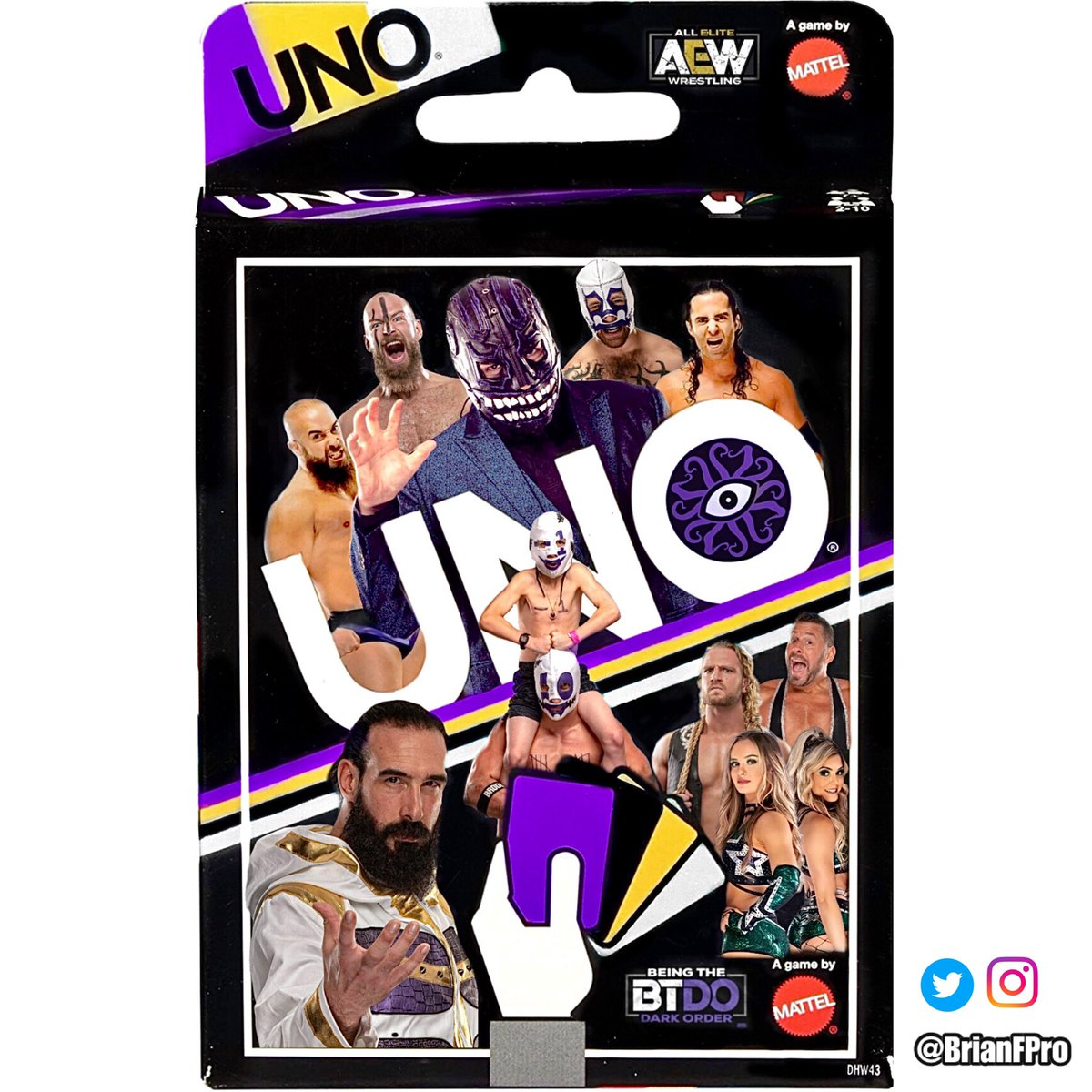 Soooo.. remember the Uno package concept art I made last September?!  Well, since Dark Order's made a few new friends, I've made some suitable adjustments— ft: @ColtCabana, @TayConti_, @theAdamPage & -1.