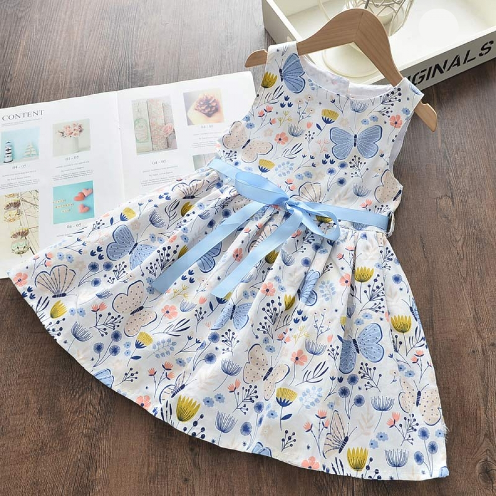 Girls Summer Floral Printed Dress #beautiful #love