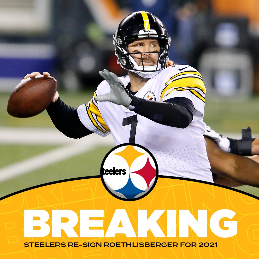 #Steelers and QB Ben Roethlisberger agree to an extension 🏈 #NFL