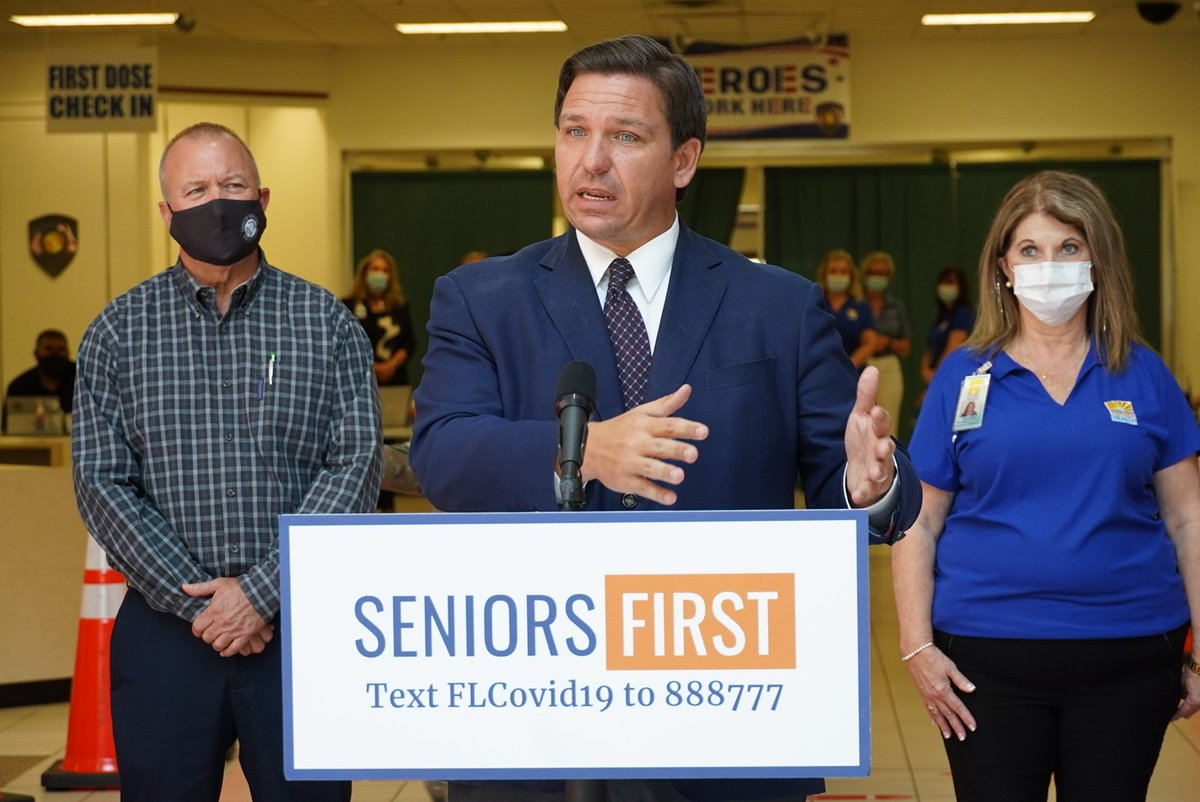 Today I was at the Lakeshore Mall in Sebring to announce a three-day vaccination site for 3,600 Highlands County seniors as we work to ensure that every senior who wants a shot, gets a shot.