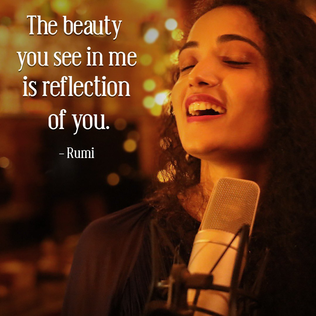 The sign of a beautiful person is that they always see beauty in others. Be kind, spread smiles and have a great weekend ahead 😊  #singingdeepti #rumi #beautiful #weekend