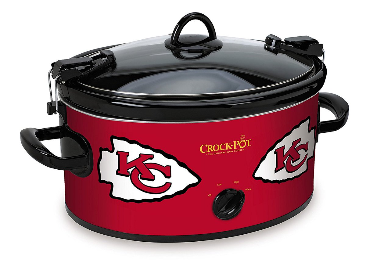 🍲KC #Chiefs Crock-Pot Slow Cooker ON SALE here >>  (via Amazon)