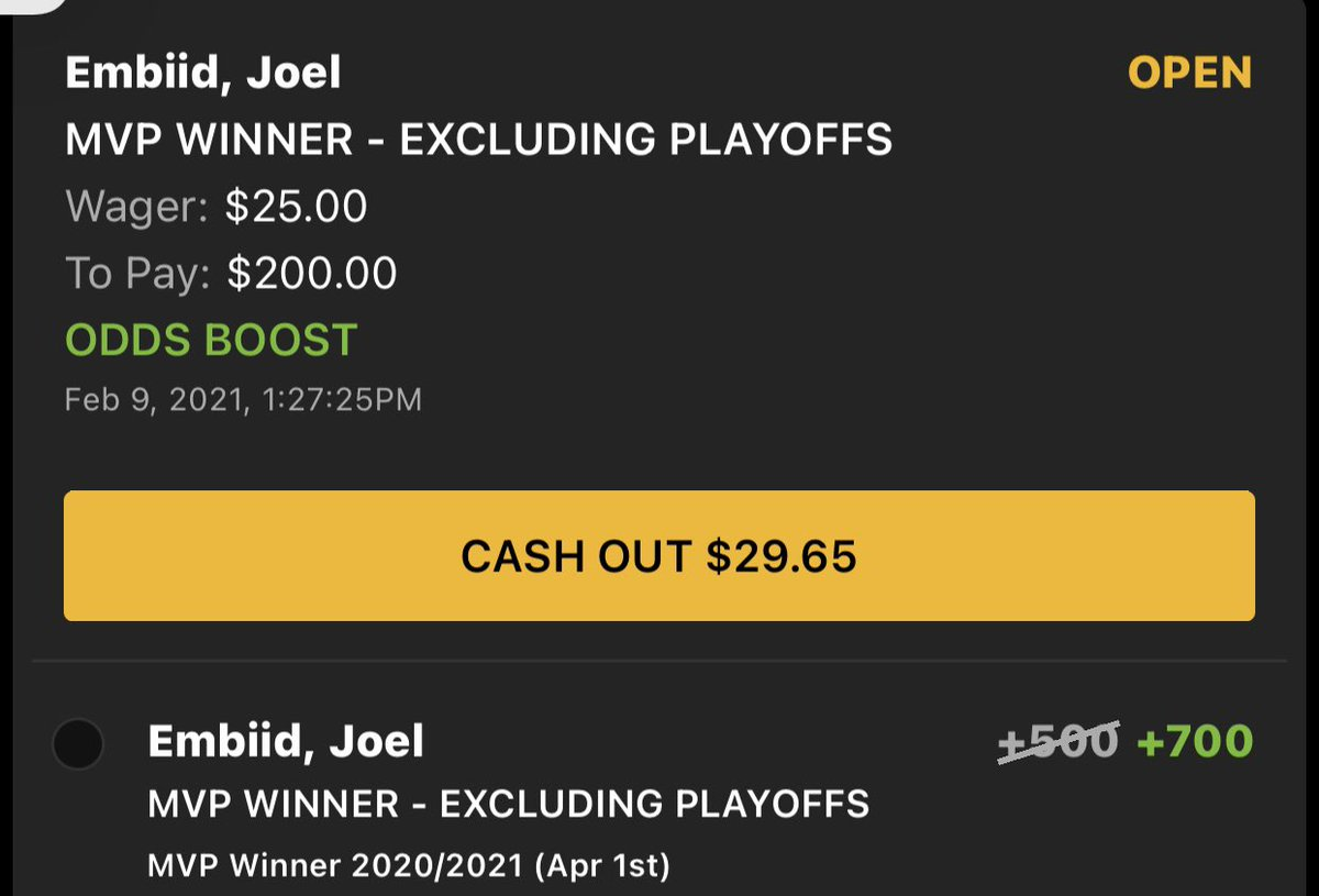 No, DraftKings, I do not think I will cash out. https://t.co/RWEMRlacjI