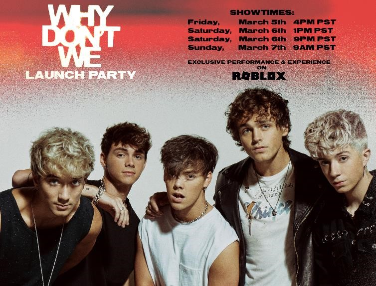 Why Don't We Announce Exclusive Launch Party on Roblox, In Partnership with Atlantic Records   via @warnermusic @AtlanticRecords @whydontwemusic @Roblox
