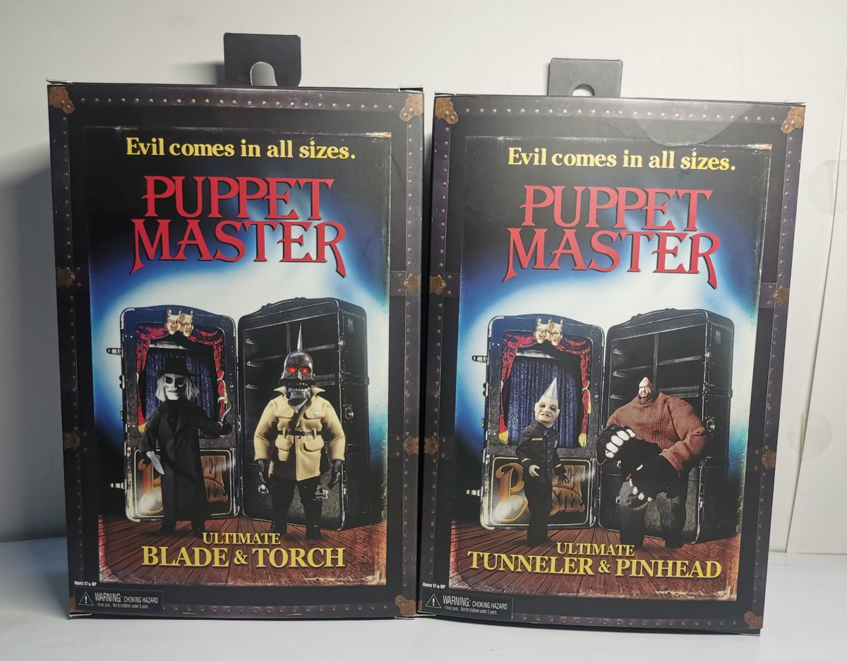FIRST look at the incredible Puppet Master 2 pack packaging. #tbt #puppetmaster