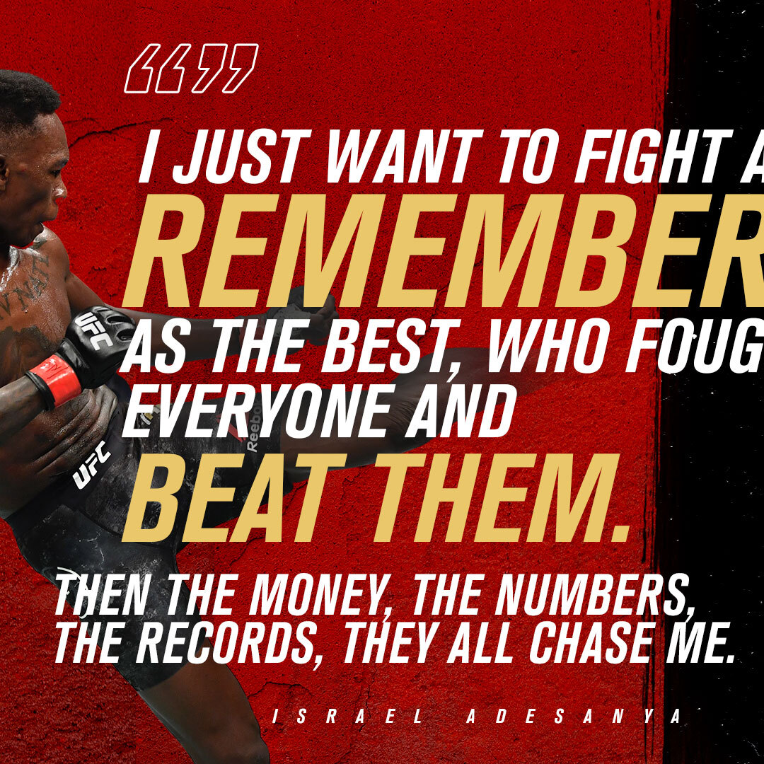 """""""I want to be remembered as the best!""""  #UFC259 