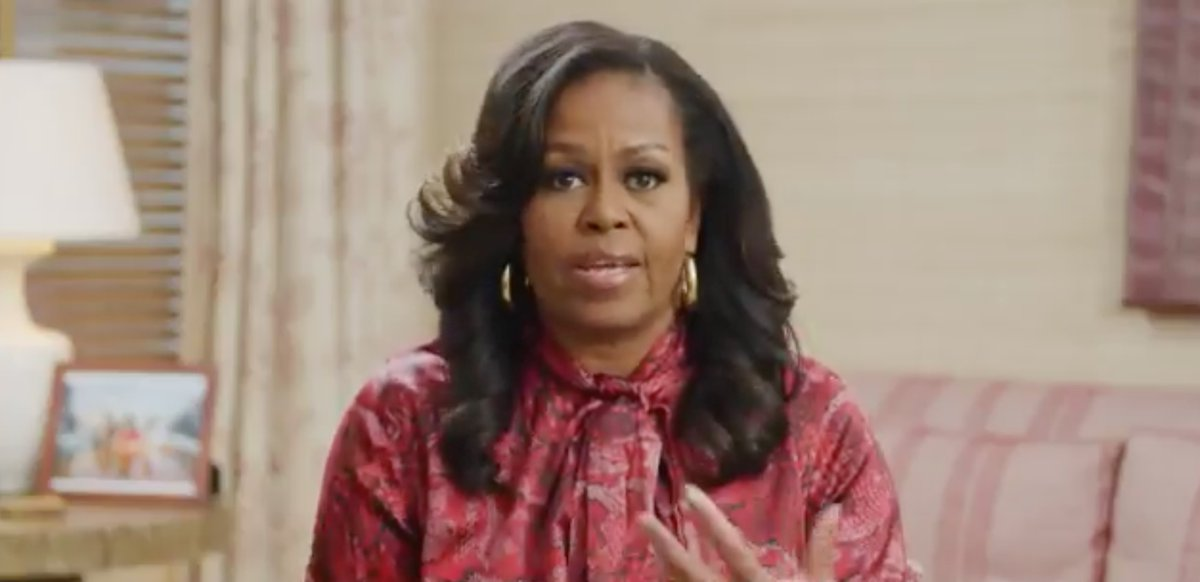 """Michelle Obama offers advice to young readers: """"You never stop becoming"""" https://t.co/4LPybEs5Sj https://t.co/Igx98yfSLv"""