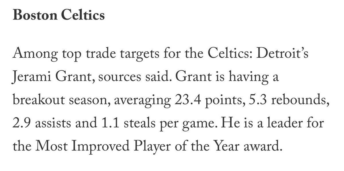 A player who left Denver for Detroit so he could be The Man and openly explained how he wanted to play for a black coach/GM team in a city with a large black population is going to jump after half a season ... to be a fourth option in Boston?