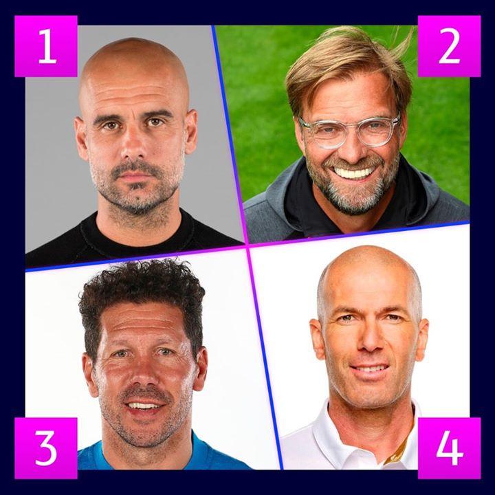 4⃣ entrenadores para el día 4⃣  ¿Con cuál te quedas? 🤔  #UCL
