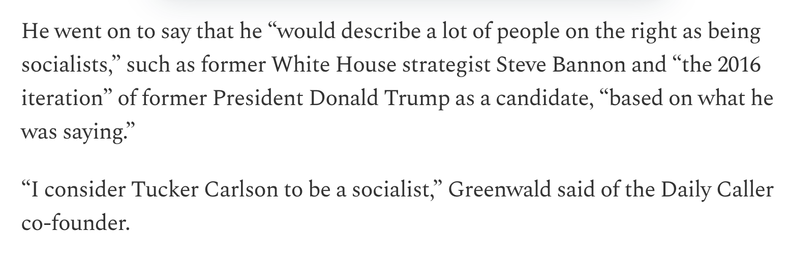 "Glenn Greenwald: ""I consider Tucker Carlson to be a socialist"" News | ResetEra"