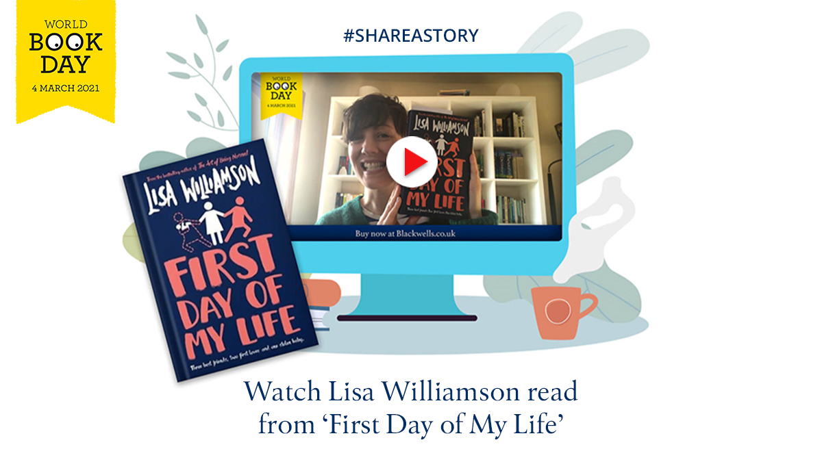 #ShareAStory this #WorldBookDay   @lisa_letters reads from 'First Day of My Life'.  Three best friends, two first loves, one stolen baby... A fabulous YA novel about friendships and the unpredictability of life.  👉 Watch video: