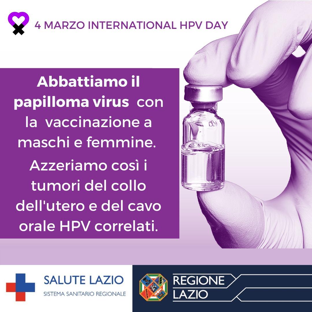 vaccino papilloma virus lazio