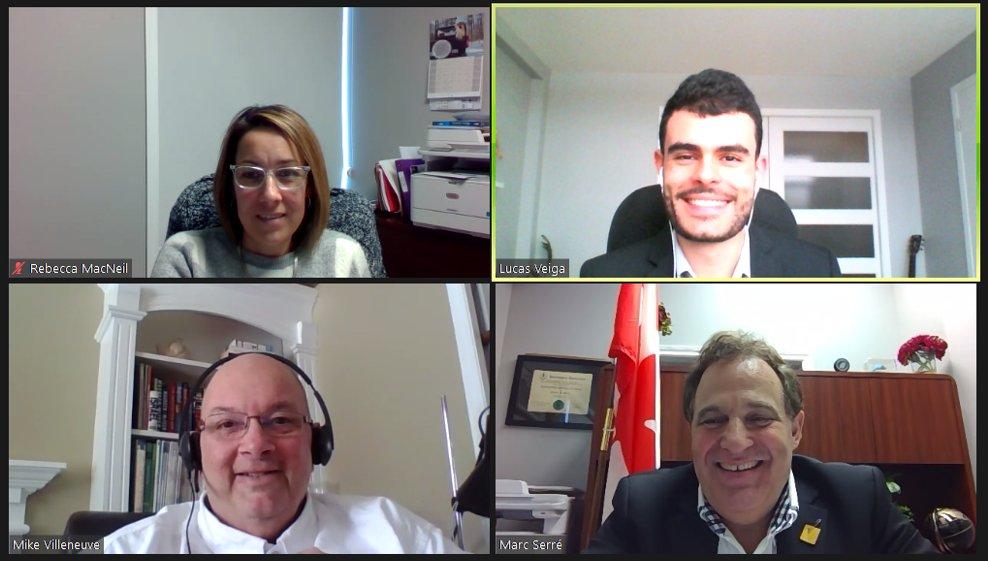 Merci au député @MarcSerreMP d'avoir pris le temps de nous rencontrer et de discuter de la façon dont le Canada peut aborder les lacunes révélées par la #COVID19 afin de prodiguer de meilleurs soins aux #aînés. #SemaineLobbyingVirtuelleAIIC  https://t.co/7KbEeCw5vS https://t.co/nVQscQ32s0