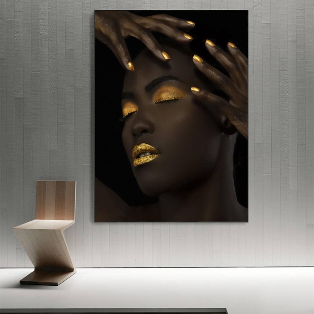 $12.90 Order link :  #saturdaymotivation God Makeup Black Girl Wall Canvas Printed