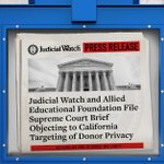Image for the Tweet beginning: Judicial Watch announced it joined