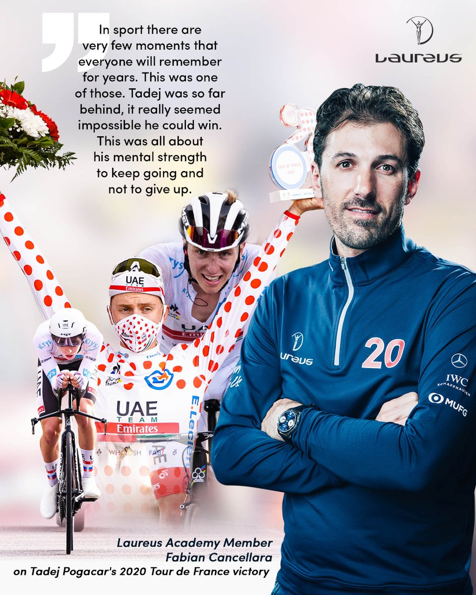 💬 This is a performance that will be remembered for years. It will set a new standard for what can be achieved Laureus Academy Member @f_cancellara recalls the incredible victory of #Laureus21 Breakthrough of the Year Award Nominee @TamauPogi in last years @LeTour
