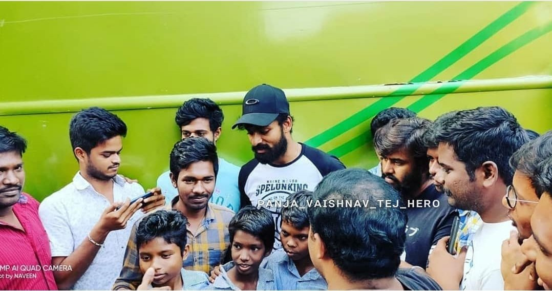 VAISHNAV hero 🖤 with fans at AU while #Uppena 🌊 shoot   #PanjaVaisshnavTej #PanjaVaishnavTej  #VaishnavTej #VaisshnavTej   Pc: Thanks to the one who shared this😊