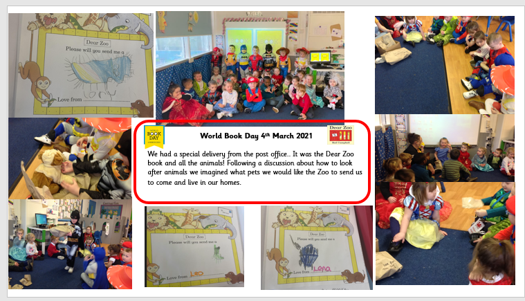 Caernarfon Class celebrating World Book Day 2021📚💕 #WorldBookDay
