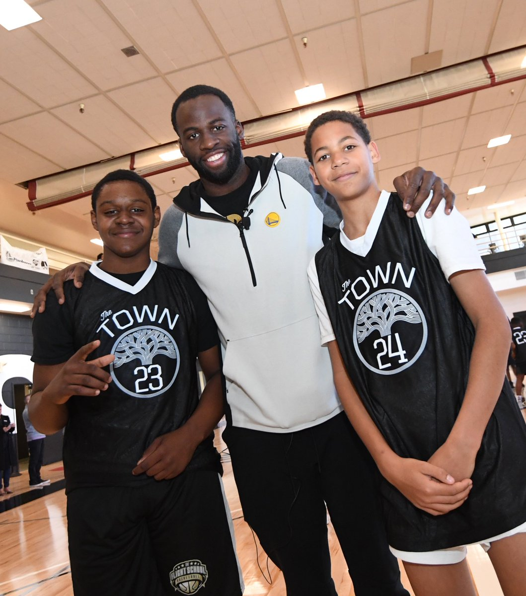 """Happy Birthday @Money23Green! 🎉   #TBT to unveiling the """"Draymond Green Court"""" at Downtown Oakland YMCA."""