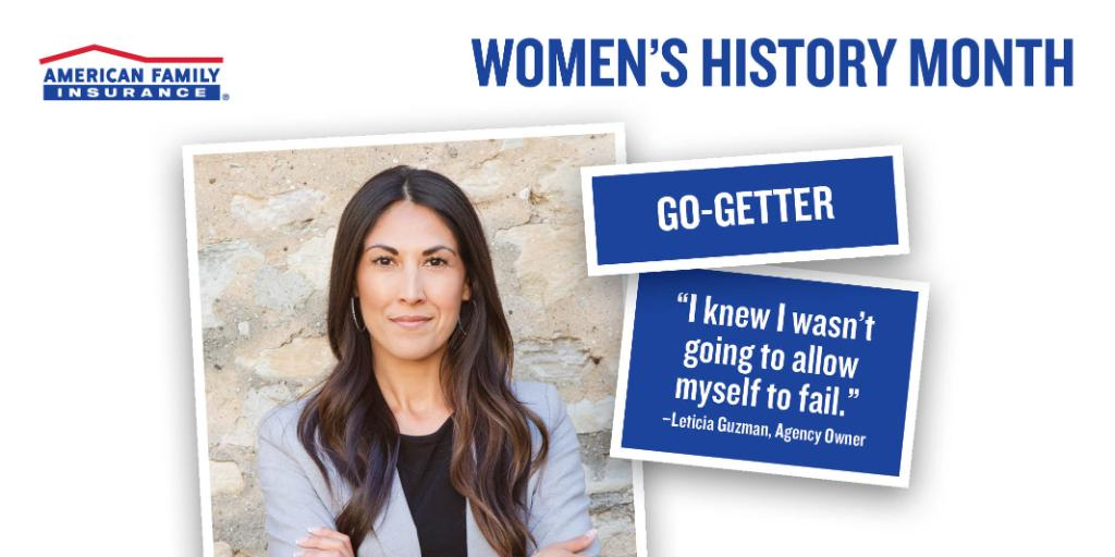 In honor of #WomensHistoryMonth, @AmFam celebrates 5 female business owners who #DreamFearlessly as they build their legacy. Meet Leticia Guzman — a Hispanic-American business owner whose secret to success is having a passion that drives her.  #iWork4AmFam