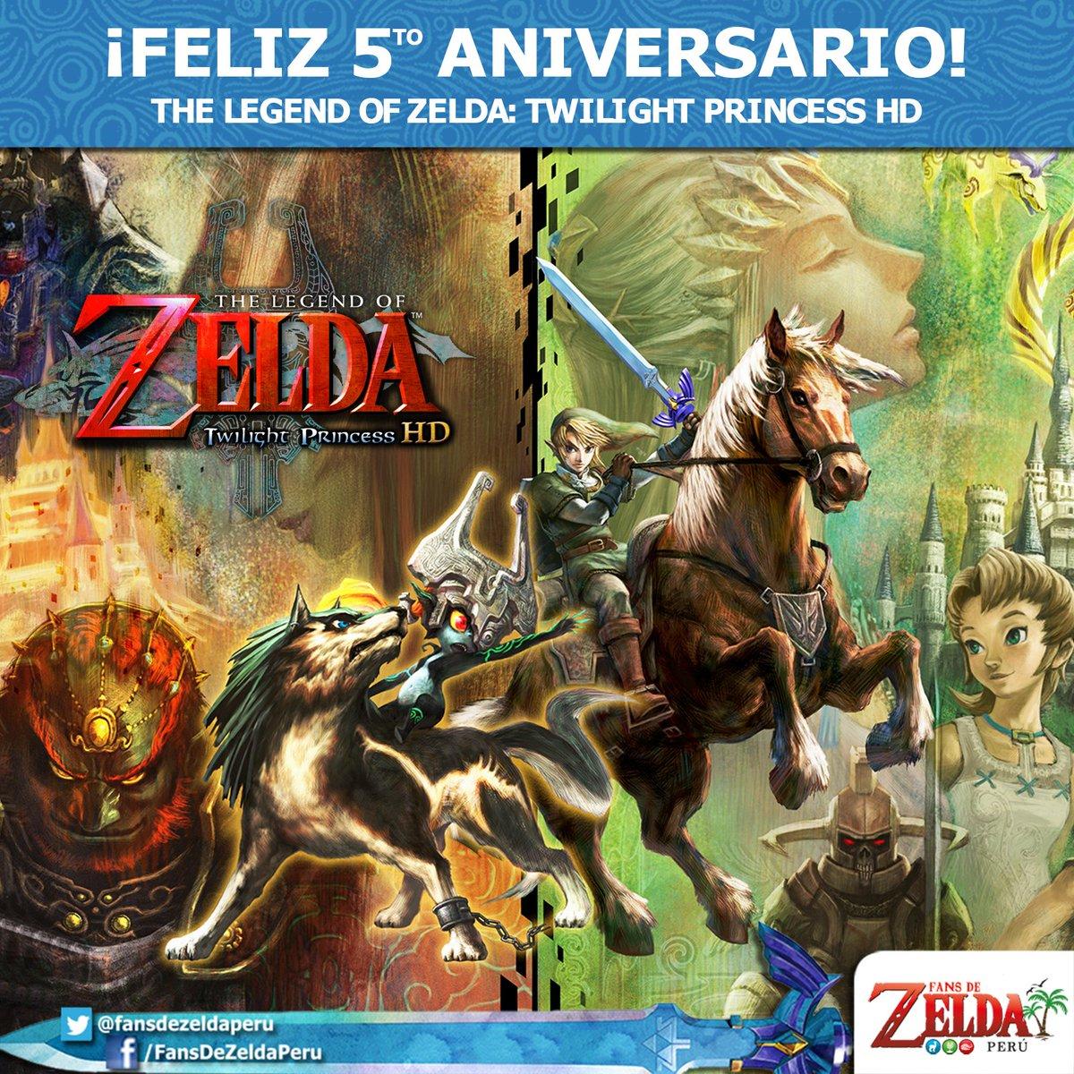 #UnDíaComoHoy en el 2016 se lanzó al mercado The Legend of Zelda: Twilight Princess HD en la #WiiU.  Esta nueva edición en HD fue desarrollada por Tantalus Media y salió a la venta con una figura #Amiibo de Link lobo. ¡Feliz 5to aniversario! 😃  #Zelda #Nintendo #TwilightPrincess