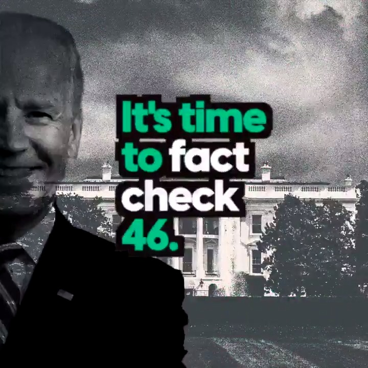 "Today we are launching FACT CHECK 46.  A new digital series dedicated to one thing and one thing only → holding the Biden Administration accountable.  ---  FACT CHECK #1  🤔🤔🤔🤔  Four perplexed emojis (out of 4) for Biden's incoherent ""100-day plan"" for America's schools."