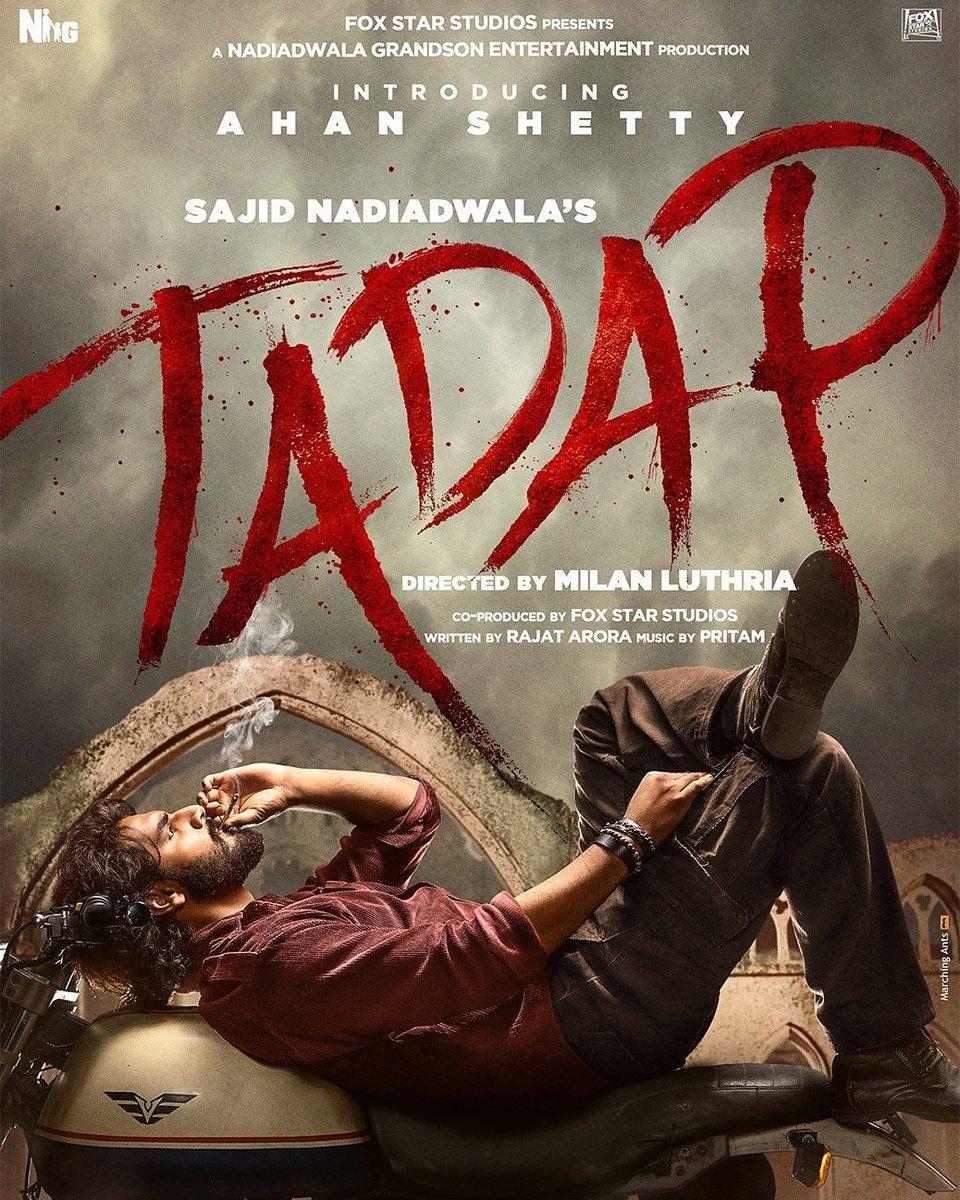@NGEMovies is launching @SunielVShetty 's son #AhanShetty with a romantic film #Tadap coproducing with @foxstarhindi.Film also 👇💥 @TaraSutaria in lead written by #rajatarora directd by @milanluthria producd by #SajidNadiadwala slated to release on 24th Sep,2021.@WardaNadiadwala