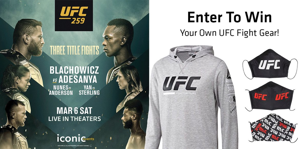 WIN A UFC FIGHT HOODIE & MASK or a FIGHT ISLAND PRIZE PACK! Enter to win 1 of 5 UFC Hoodies & a UFC Mask +share for the chance to win a Fight Island Swag Bag with: a UFC Backpack, Cozy Blanket, pair of hot/cold Goblets, Wine Key and Commemorative Puzzle!