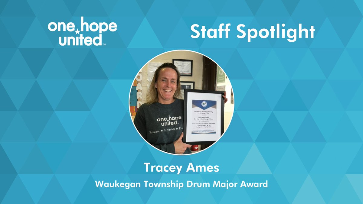 test Twitter Media - OHU staff member Tracy Ames was one of several community leaders who received the Waukegan Township Drum Major Award this year. Congratulations, Tracy!  #OneHopeUnited #LifeWithoutLimits #StaffSpotlight #Nonprofit #Philanthropy #EarlyChildhoodEducation https://t.co/nkwOWNo5LT