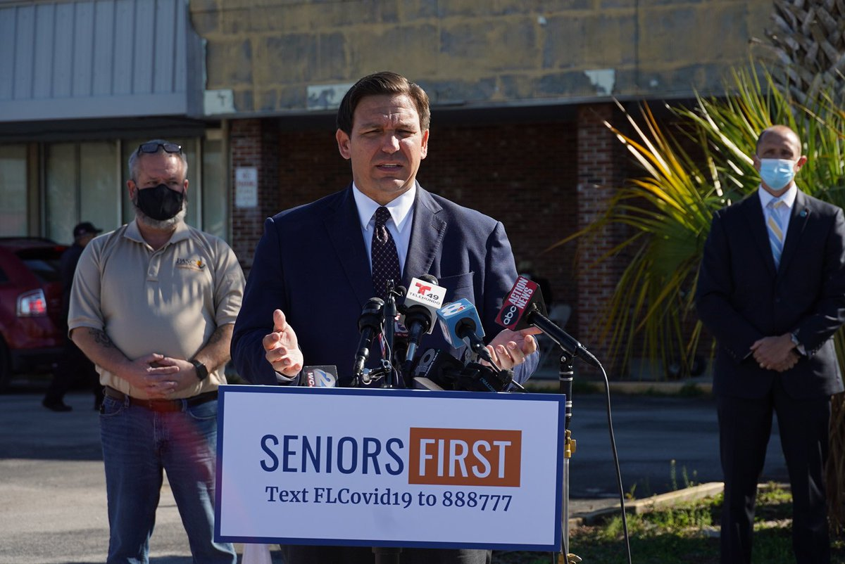 It was great to be in Crystal River this morning to announce a new drive-thru vaccination site where over 3,000 vaccines will be administered to seniors in Citrus County over the next three days. #SeniorsFirst