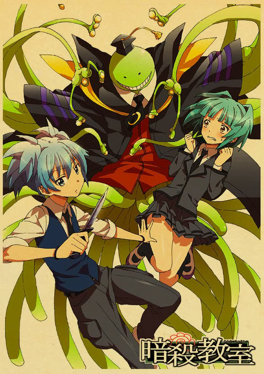 We've also added retro style posters from Assassination Classroom today!  Free worldwide shipping and buy one get one free, buy two get two free, etc!  #assassinationclassroom