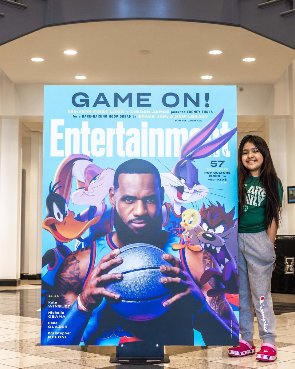 .@KingJames 👑 + Looney Tunes 🐰 + I Promise Students 👸🤴?! This is the @EW first look with the @spacejammovie Tune Squad you've been waiting to see. 🤯