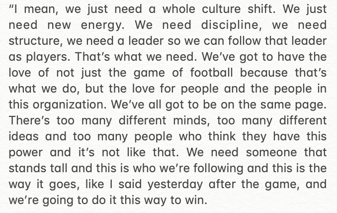 If you're wondering why Deshaun Watson is upset, go back and read what he had to say the day after the final game this season. https://t.co/52WlRZs5C9