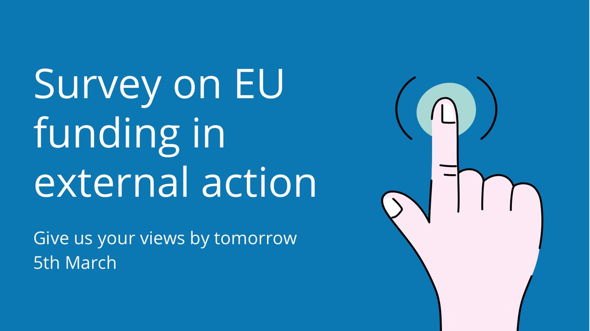 Last days to take part in our survey!   Have you been engaged in the #EU recent consultations with civil society on the programming of the new NDICI?  Available in: 1️⃣ English https://t.co/mkpGEKjcTB 2️⃣ Spanish https://t.co/XKSs9cTCxY 3️⃣ French https://t.co/iqtzE877oB https://t.co/F60LL1Ls7P