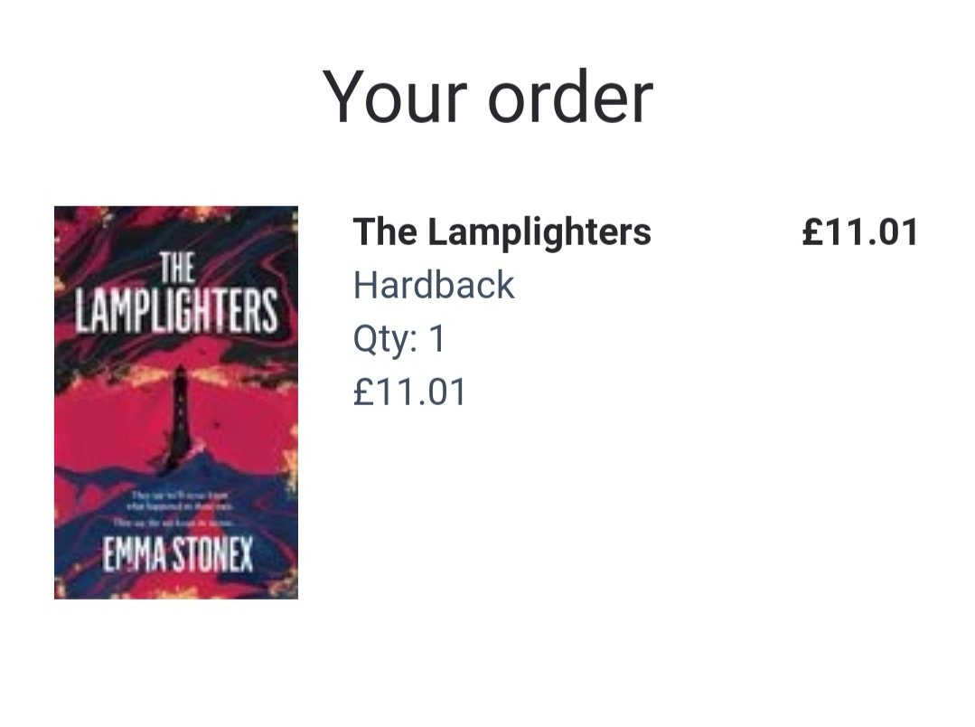 To celebrate #WorldBookDay I have just ordered #TheLamplighters by @StonexEmma because I couldn't help myself. Out today and it sounds WONDERFUL. 😊📚❤️ @wordery 🚚