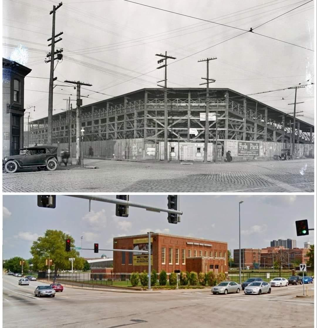 A couple of weeks ago we posted a photo of Stars Park in St. Louis, built for the St. Louis Stars of the Negro Leagues in 1922 (home of Cool Papa Bell). Patrick Greenwood posted this fantastic photo showing then and now. Thank you to Erik Kreft for posting the other. https://t.co/RJuqmsSIiN