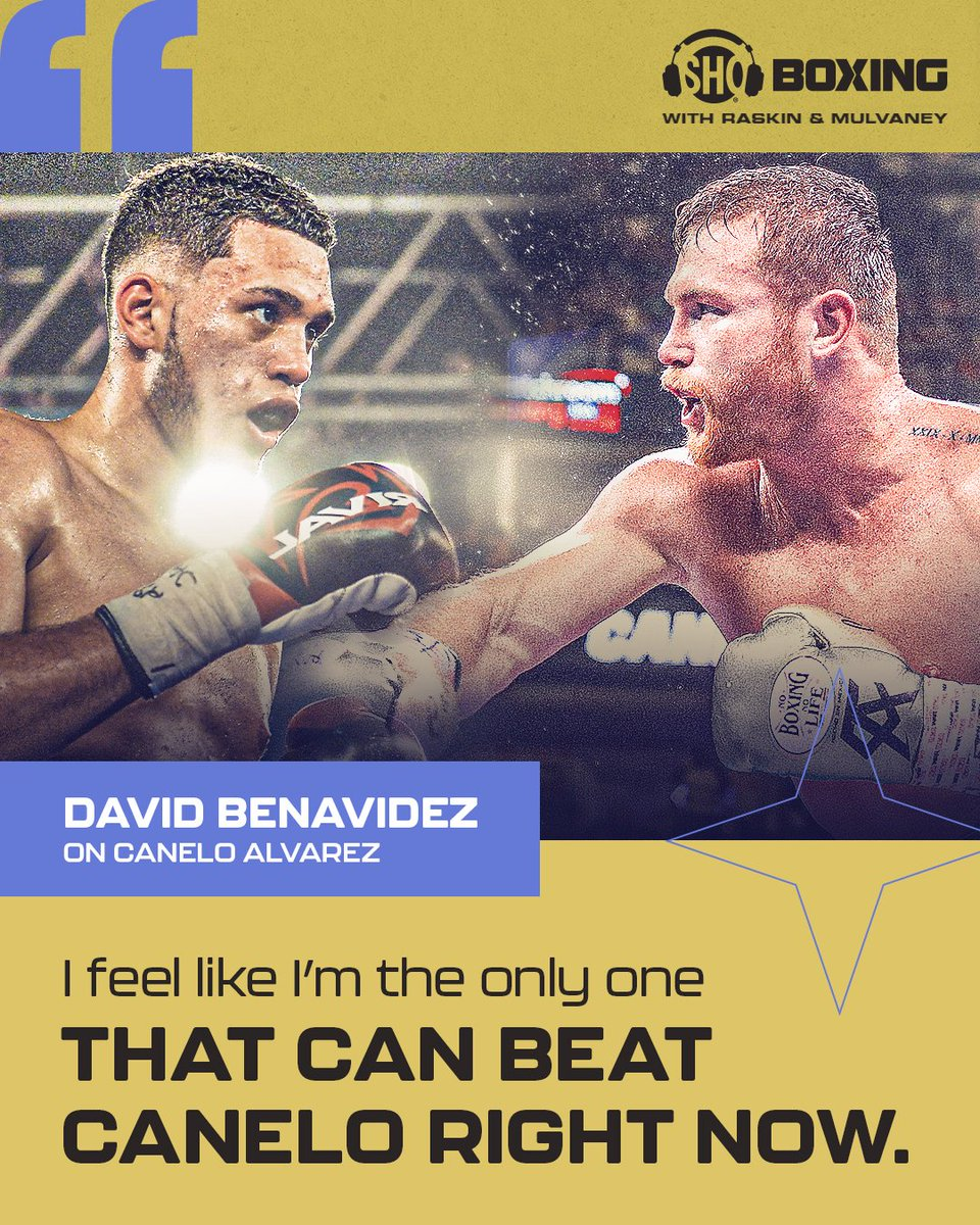 .@Benavidez300 discusses what he expects in #BenavidezEllis and why he's the only 168-pounder who can beat @Canelo on this week's pod.   LISTEN 🎧 .