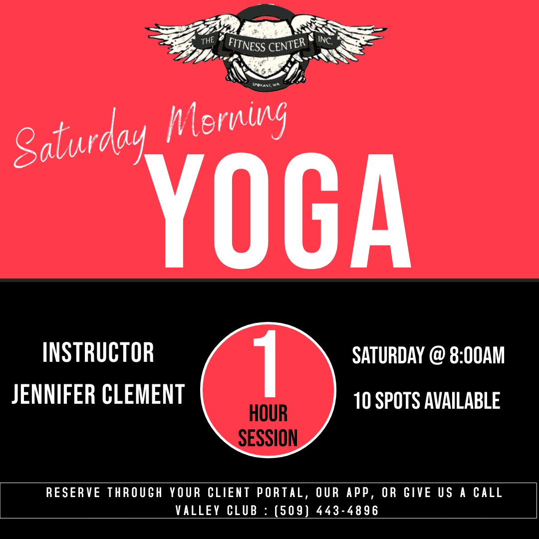 We have added to the schedule! Join Jennifer for Yoga Saturday Morning's at 8:00am!   #SpokaneFitnessCenterandWellness #SaturdayMorning #Yoga