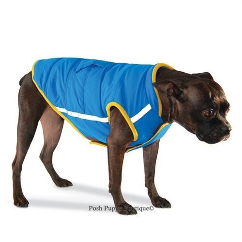 Puffer Jacket Vest-Blue! Visit:  #dogsoftwitter #dogproducts #puppy @PoshPuppy
