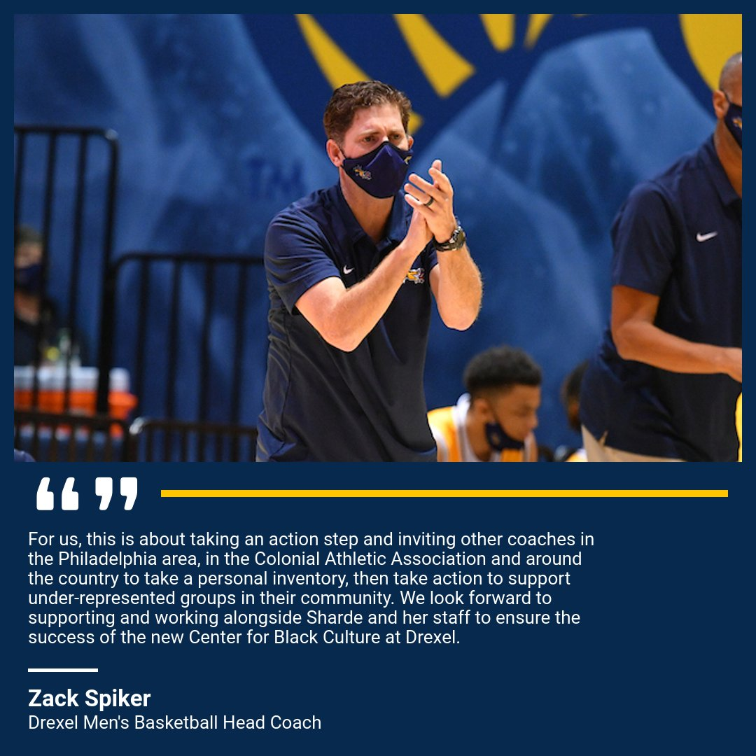 Head @DrexelMBB Coach Zach Spiker & his wife Jennifer made a significant contribution to @DrexelUniv The Center for Black Culture this past summer, challenging coaches across the nation to support minority organizations on their campuses.  STORY➡️