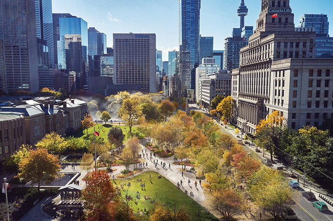 Public Work's plans for a 90-acre linear park through the heart of Toronto aims to consolidate s....