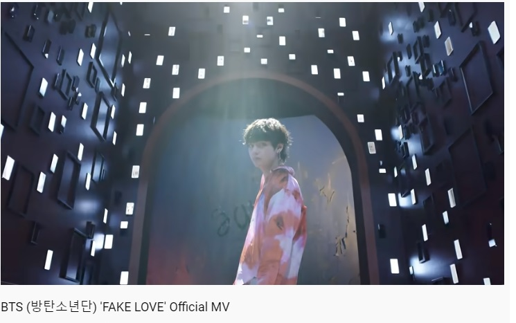 Now Playing: Fake Love  🎧YouTube: …   Share your screenshots with the hashtag📸  ➝ Reply with :  #BTSNo1GlobalArtist  (@BTS_twt)
