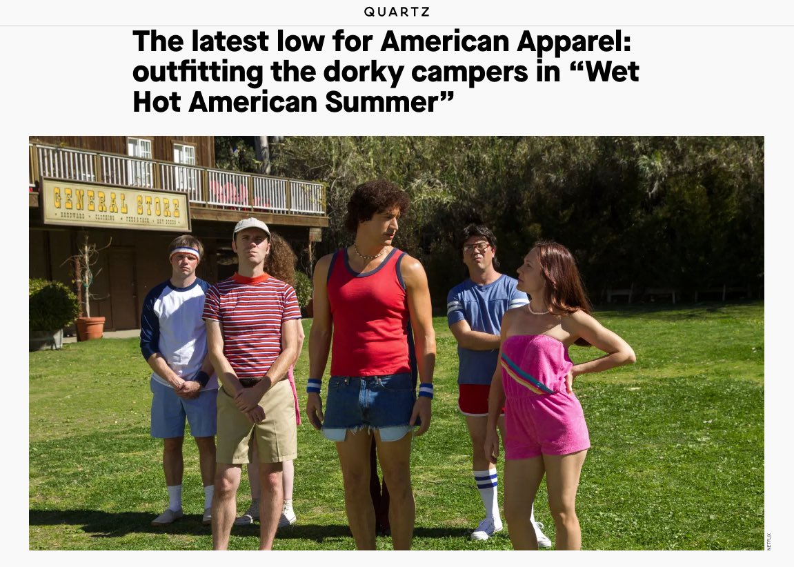 Wow, rude! I thought we looked great. Especially @KenMarino ☀️ #WetHotAmericanSummer #ThrowbackThursday