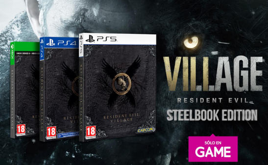 """@VideojuegosGAME anuncia la EDICION STEELBOOK de #ResidentEvilVillage de forma exclusiva y un DLC """"MR. RACCOON – WEAPON ACCESSORY DLC"""" de regalo. ¡Os va a dejar alucinados!"""