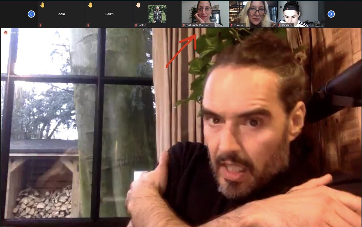 Was just on a Zoom with Russell Brand no biggie... Thank you @rustyrockets! ♥️🙏✌️