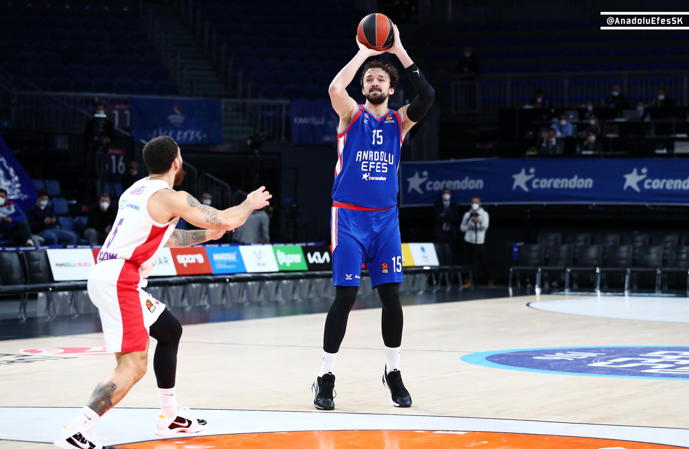 EuroLeague – Tracollo del CSKA a Istanbul, l'Anadolu Efes lo abbatte