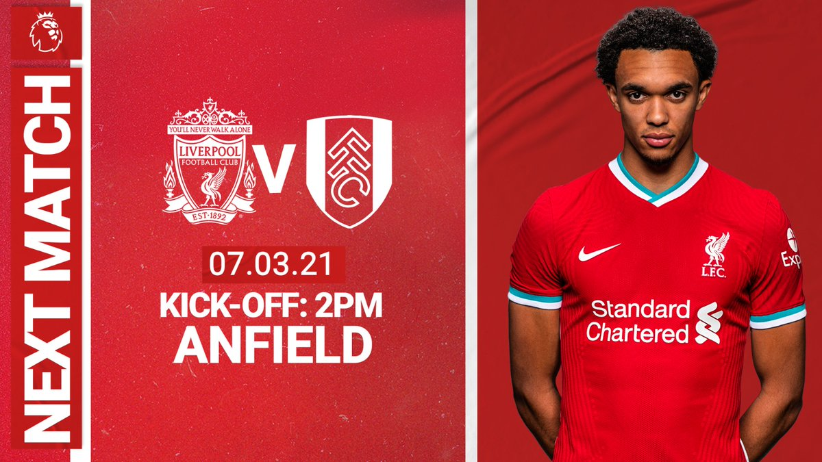 Attention turns to @FulhamFC on Sunday 👊🔴 #LIVFUL